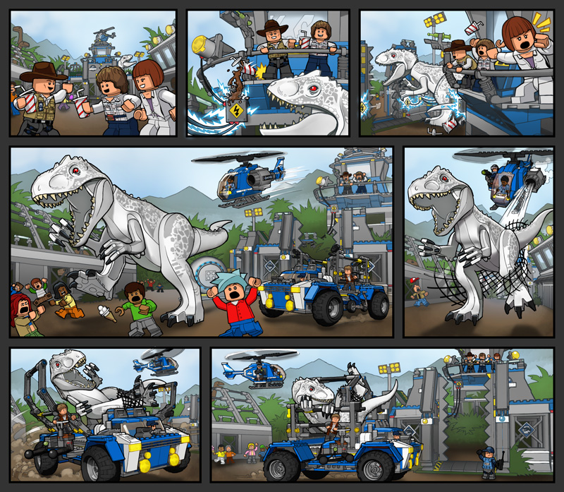LEGO Jurassic World in-box comic